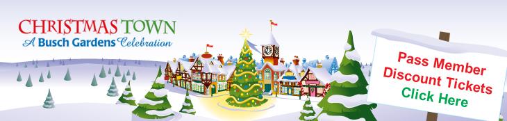Anjiesworld christmas town busch gardens 12 24 for Busch gardens annual pass discounts